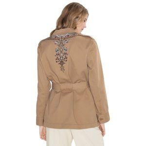 TOMS & Other Stories Tan Embroidered Military Jacket 4